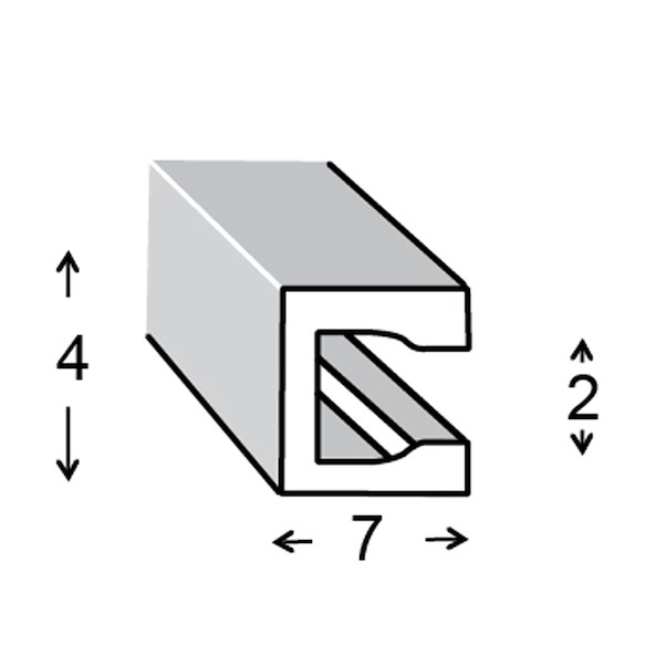 PVC 7X4X0.6MM 100CM
