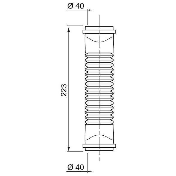 JUNTA PVC 40MM