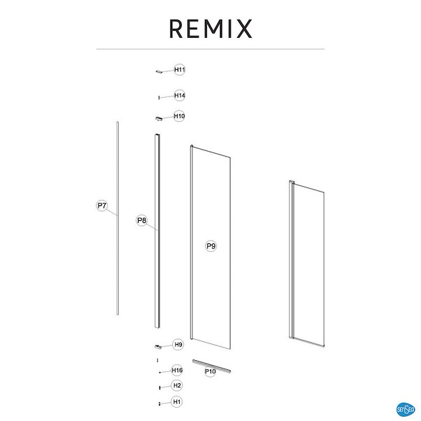REMIX TRANSPARENTE 40X200