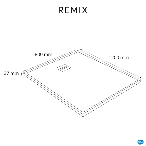 Base De Duche Sensea Remix Carga Mineral Branca 120x80cm Retangular Leroy Merlin Portugal